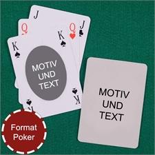 Spielkarten mit anpassbarer Vorder- und Rückseite im ovalen Stil
