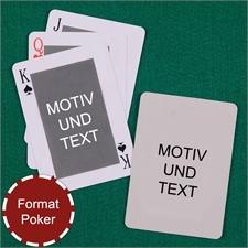 Spielkarten mit anpassbarer Vorder- und Rückseite im klassischen Stil