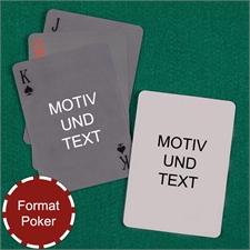 Spielkarten mit individualisierbarer Vorder- und Rückseite, einfach