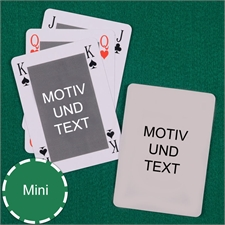 Mini Brigde Kartenspiel Beidseitig Personalisierbar