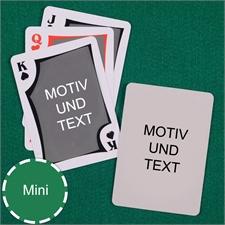Mini Kartenspiel Modern Beiseitig Personalisierbar