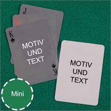 Mini Kartenspiel Einfach Beidseitig Personalisierbar