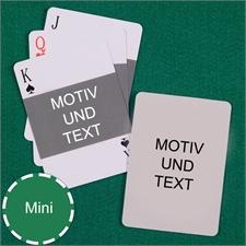 Mini Kartenspiel Querformat Beidseitig