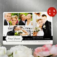 Liebe Collagemagnet vier Fotos Personalisieren 10,16 x 15,24 cm
