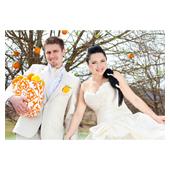 Hochzeit und Jubiläum Kippbild Vollbild Querformat
