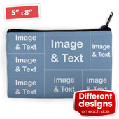 6er Fotokollage Medium Kosmetiktasche Beide Seiten einzeln personalisieren