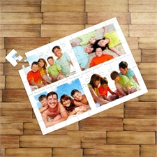 Grosses Foto-Collage-Puzzle mit Fotos, Bilder und Text 30,48x41,91 cm