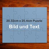 Personalisierbares Foto-Puzzle mit Text aus 12 grossen Puzzleteilen