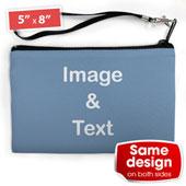 Kleine Personalisierte Clutch Bag – 2 gleiche Motive