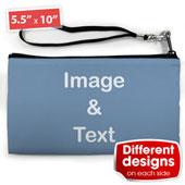 Mittelgroße Personalisierte Clutch Bag – 2 verschiedene Motive