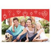 Glückliche Herzen 3D Fotokarten / Kippkarten