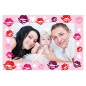 Muttertag Personalisierte 3D Fotokarte / Kippkarte