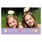 Osterfeier Ostereier 3D Fotokarte / Kippkarte