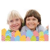 Osterei Monogram 3D Fotokarte / Kippkarte