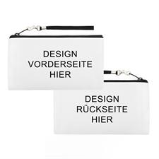 Ihr Design hier gedruckt, 14x25 cm Clutchtasche fürs Handgelenk - Unterschiedliche Seiten