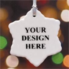 Schneeflocke Personalisierter Porzellanschmuck mit Foto
