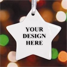 Porzellanstern Personalisierter Schmuck mit Foto