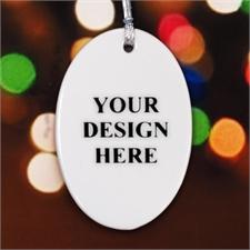 Porzellan Schmuck Oval Personalisieren mit Foto und Text