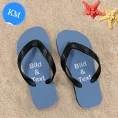 Personalisierte Strandsandalen Kinder Größe M 29-31 ZWEI BILDER Schwarz