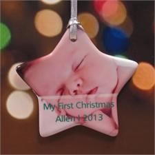 Unser leuchtender Stern Keramikschmuck für Kind, Mami und Vati