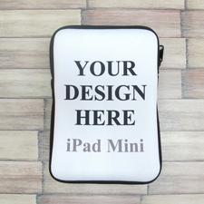 Reißverschluss Farbwahl iPad Mini Hülle Hochformat Einseitig Personalisieren 21,0 x 14,6 cm