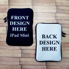 iPad Mini Tasche Hochformat Beidseitig Personalisieren mit Reißverschluss 21,0 x 14,6 cm