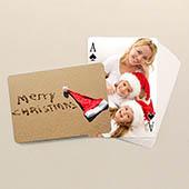Beidseitig individualisierbare Spielkarten Weihnachten