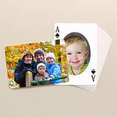 Beidseitig individualisierbare ovale Weihnachts Spielkarten