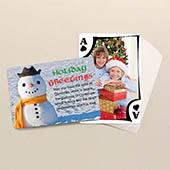 Beidseitig individualisierbare Foto-Spielkarten, Weihnachten