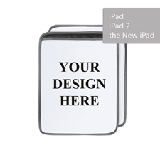 Personalized Ultra-plush Padded iPad Sleeve, Portrait