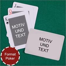Spielkarten - anpassbare Vorder- und Rückseite quer im klassischen Stil