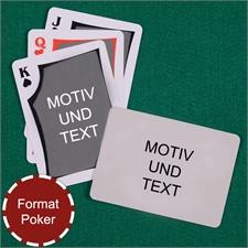 Spielkarten mit anpassbarer Vorder- und Rückseite quer im modernen Stil