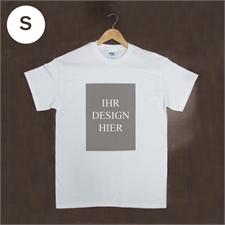 Größe S, T-Shirt, Weiß, Hochformat, 100% Baumwolle