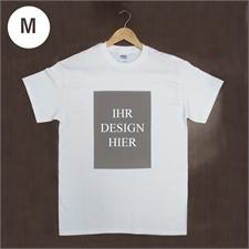 Größe M, T-Shirt, Weiß, Hochformat, 100% Baumwolle