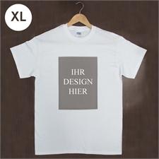 Größe XL, T-Shirt, Weiß, Hochformat, 100% Baumwolle