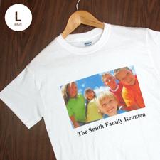 Größe L, T-Shirt, Weiss, Foto & Text, Personalisiert, 100% Baumwolle