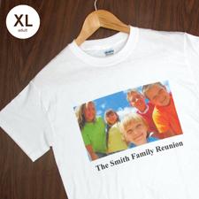 Größe XL, T-Shirt, Weiss, Foto & Text, Personalisiert, 100% Baumwolle