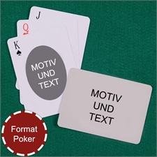 Spielkarten mit anpassbarer Vorder- und Rückseite quer im ovalen Stil