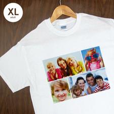 Größe XL T-Shirt Weiß 4er Collage, Querformat, Personalisierte Baumwolle
