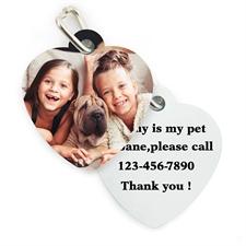 Hundemarke Herz beidseitig personalisieren