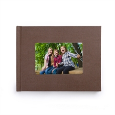 Fotobuch 21,3 x 27,9 cm Braunes Leinen Gebunden