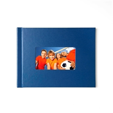 Fotobuch 21,3 x 27,9 cm Navy Blau Leder gebunden