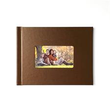 Fotobuch 21,3 x 27,9 cm Braunes Leder, personalisiert, gebunden