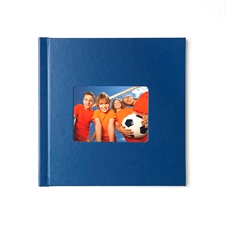 Fotobuch 30,5 x 30,5 cm Navy Blau Leder Gebunden