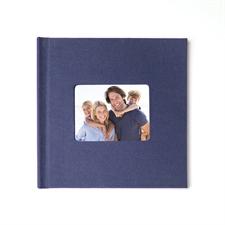 Fotobuch 20,3 x 20,3 cm Navy Blau Leinen gebunden