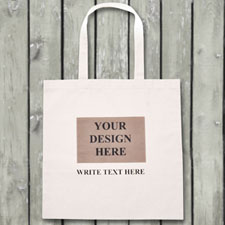 Ihr Bild und Ihre Botsschaft auf Ihrer Budget Tasche