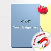 Herzlich Willkommen Magnet Hochformat 10,16 x 15,24 cm