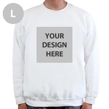 Sweatshirt Foto Vollbild Weiß Größe L