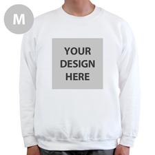 Sweatshirt Foto Vollbild Weiß Größe M