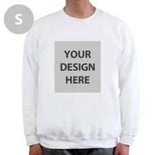 Sweatshirt Foto Vollbild Weiß Größe S